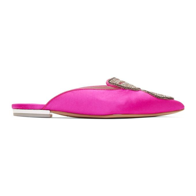 Sophia Webster Pink Bibi Butterfly Crystal Slippers