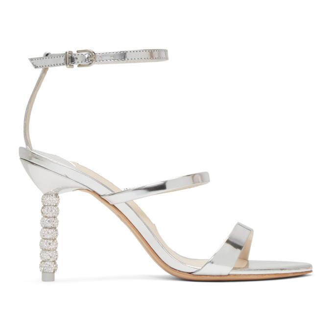 Sophia Webster Silver Rosalind Mid Sandals