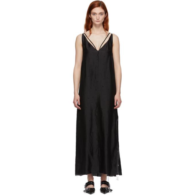 YANG LI | Yang Li Black Silk Maxi Slip Dress | Goxip