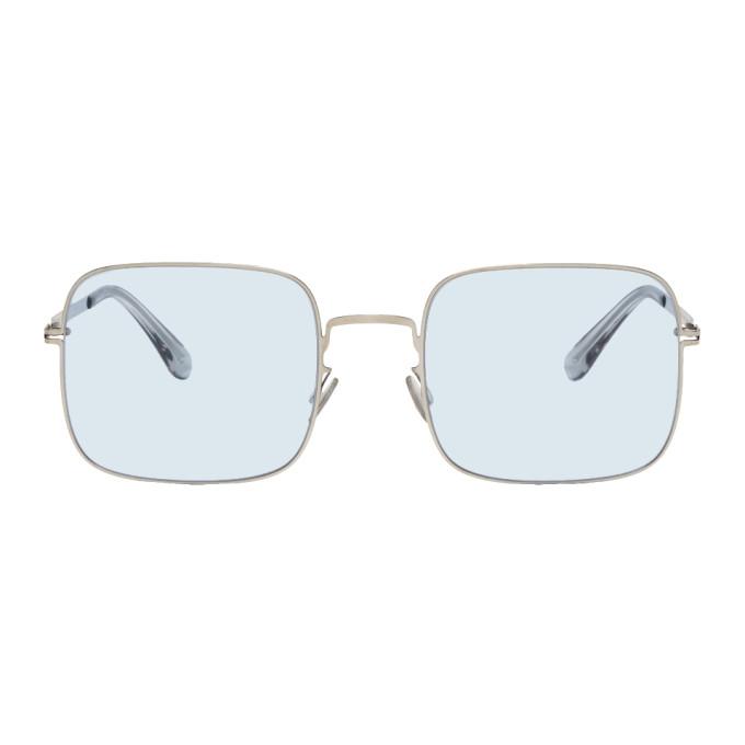 Mykita Silver & Blue Studio7.1 Sunglasses
