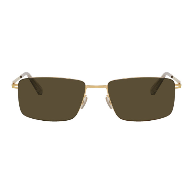 Mykita Gold Kaito Lessrim Sunglasses