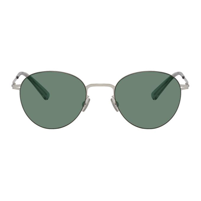 Mykita Silver Eito Less Rim Sunglasses