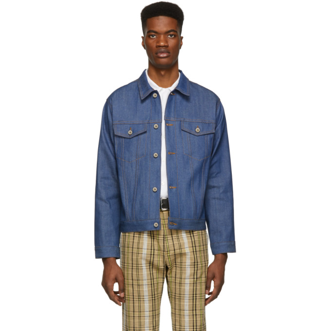 Image of Naked & Famous Denim Blue Selvedge Denim Classic Fit Jacket