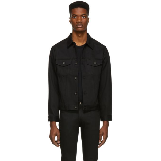 Image of Naked & Famous Denim Black Selvedge Denim Classic Fit Jacket