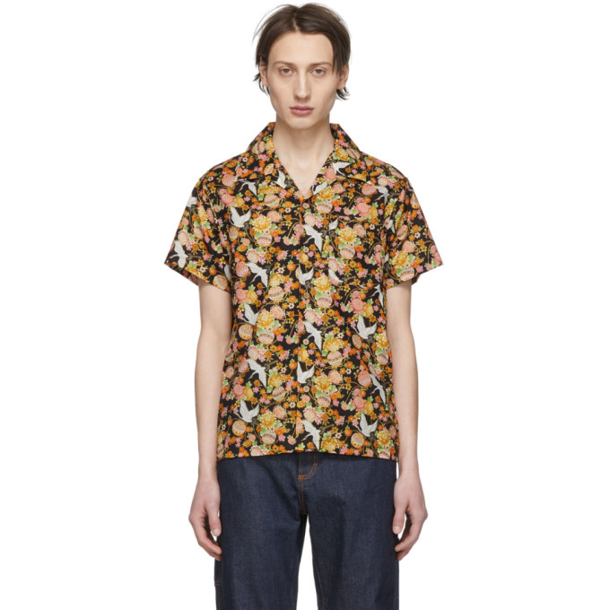 Naked And Famous T-shirts NAKED AND FAMOUS DENIM MULTICOLOR JAPAN TSURU FESTIVAL SHIRT