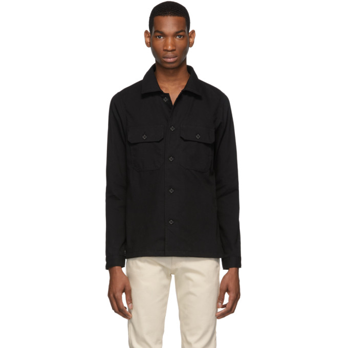 Naked And Famous T-shirts NAKED AND FAMOUS DENIM BLACK OXFORD RINSED SHIRT