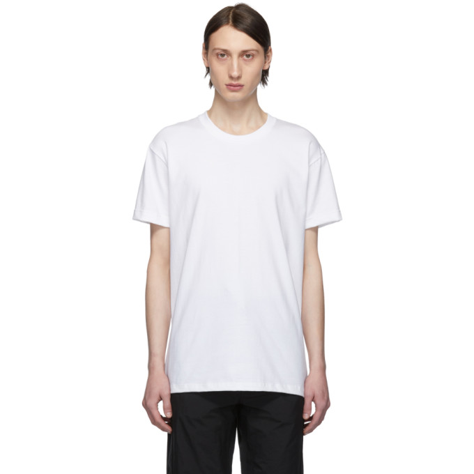 Naked And Famous T-shirts NAKED AND FAMOUS DENIM WHITE CIRCULAR T-SHIRT