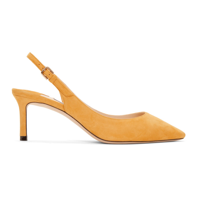 Jimmy Choo Yellow Suede Erin 60 Heels