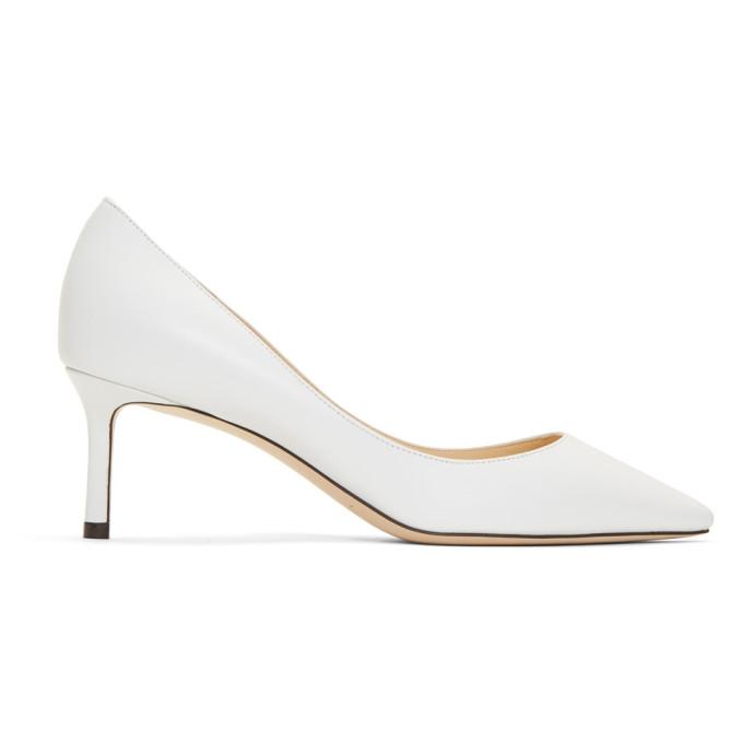 Jimmy Choo White Leather Romy 60 Heels