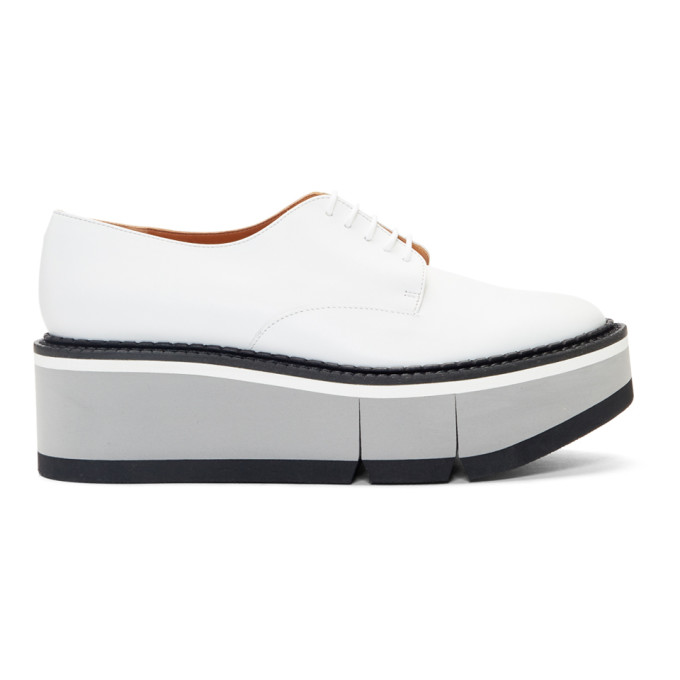 Image of Clergerie White Barbara Oxfords