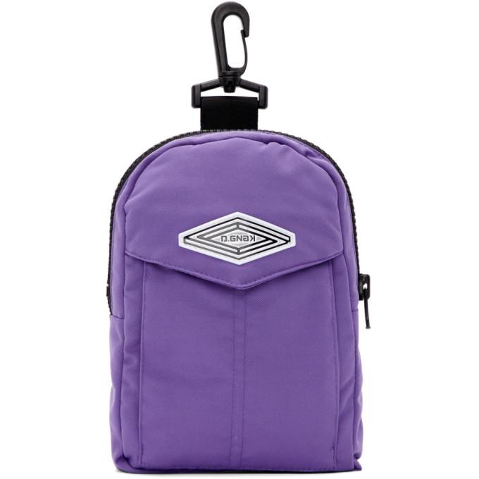 D.Gnak by Kang.D Purple Pocket Zipper Pouch