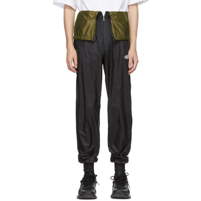 D.Gnak by Kang.D Pantalon de survetement noir Waist Flap