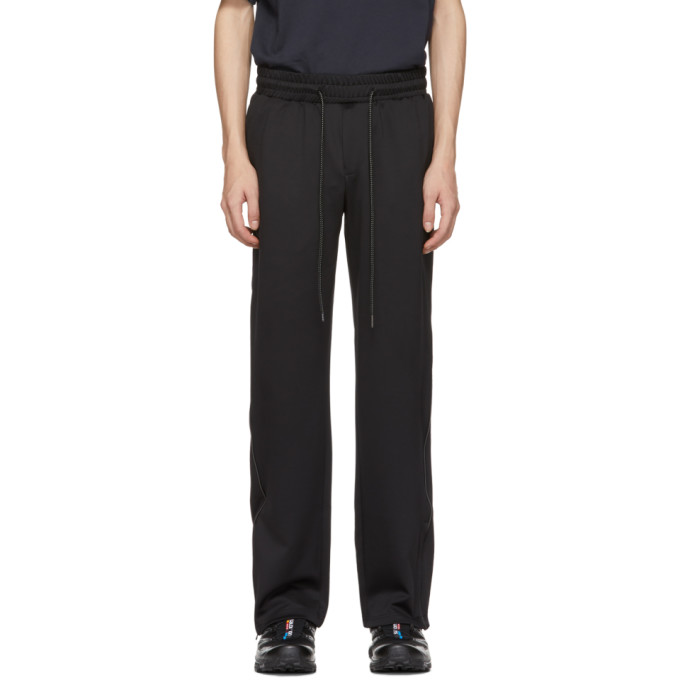 Image of D.Gnak by Kang.D Black Scotch Piping Track Trousers