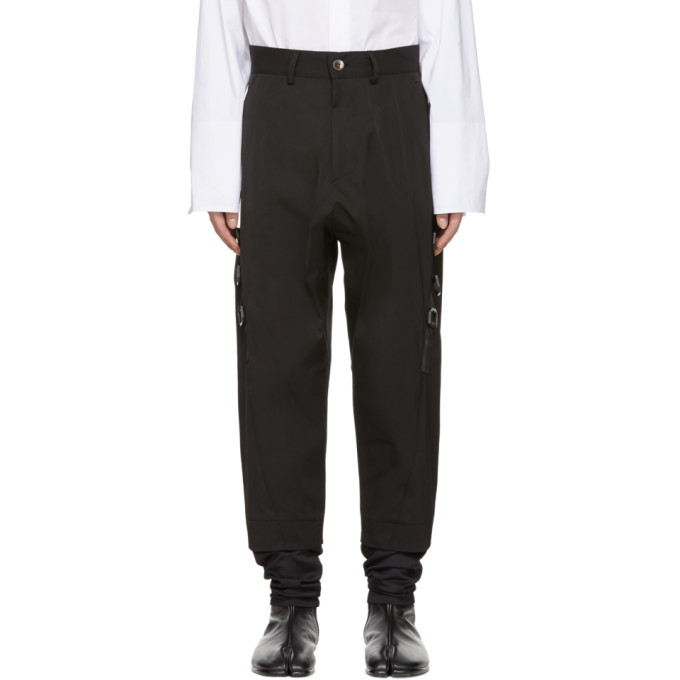 Image of D.Gnak by Kang.D Black Layered D-Ring Trousers