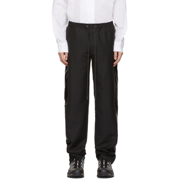 Image of D.Gnak by Kang.D Black Scotch Piping Trousers