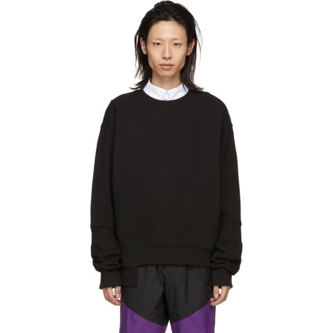 Image of D.Gnak by Kang.D Black Ribbed Asymmetry Sweatshirt