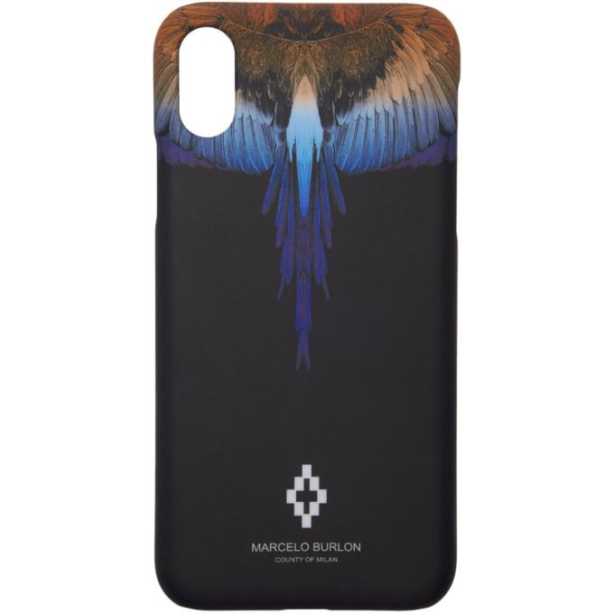 Marcelo Burlon County Of Milan Black Wings Iphone X Case in Black/Multi