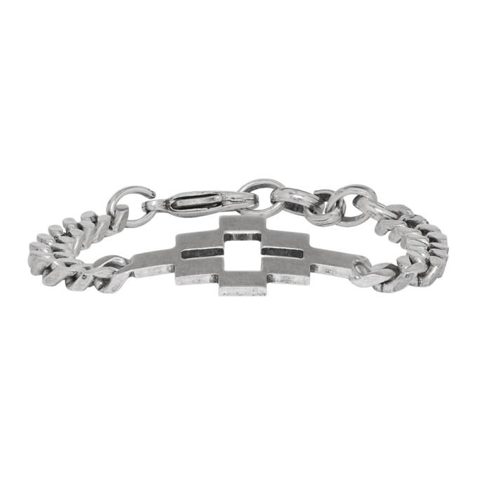 Marcelo Burlon County of Milan Silver Cross Bracelet