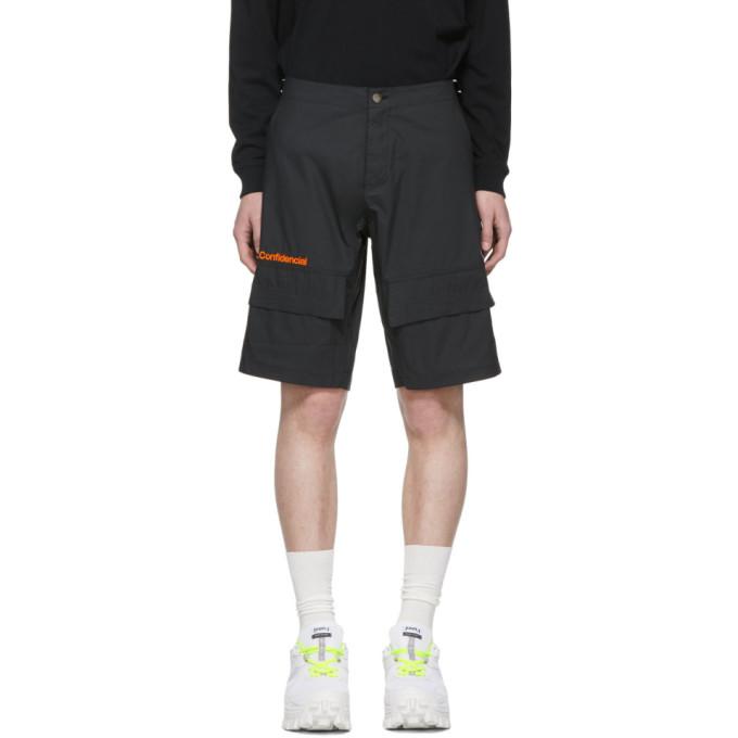 Marcelo Burlon County of Milan Black 'Confidencial' Shorts