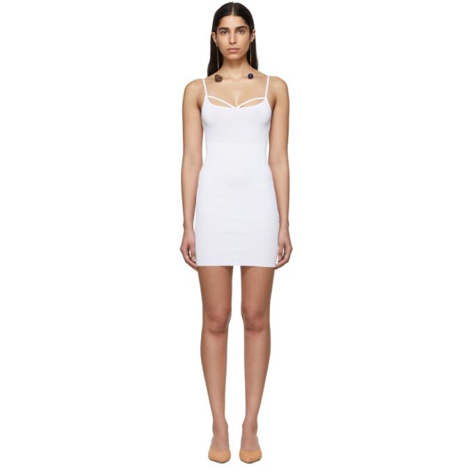 JACQUEMUS JACQUEMUS OFF-WHITE LA ROBE DOLCEAQUA DRESS