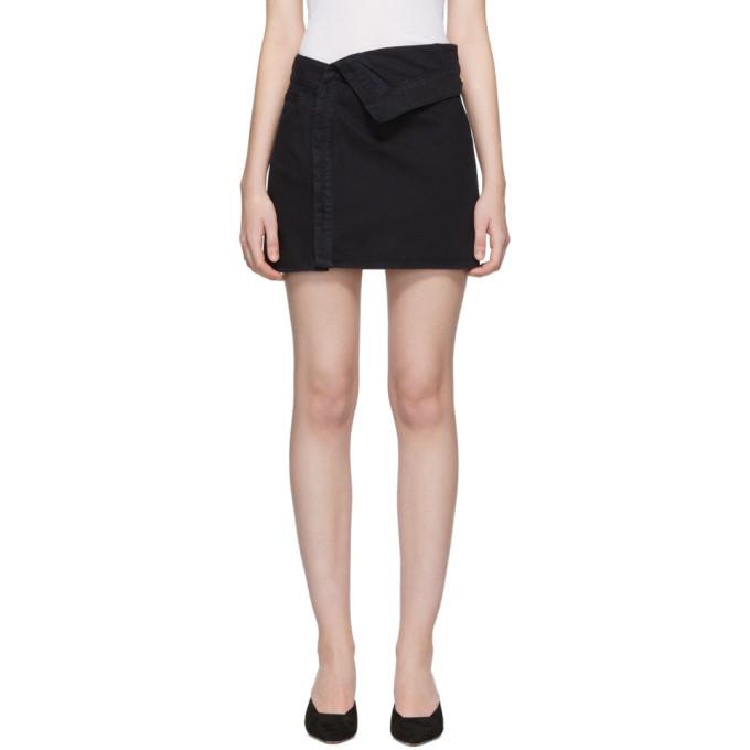 Jacquemus Navy La Mini Jupe En Jean Miniskirt