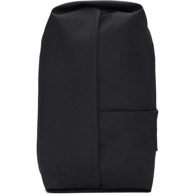 Image of Côte & Ciel Black Eco Yarn Sormonne Backpack