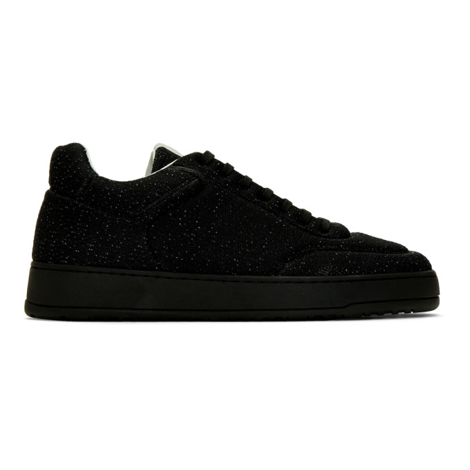 Image of ETQ Amsterdam Black Knitted LT 05 Sneakers
