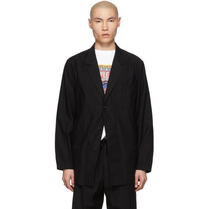 Yohji Yamamoto Blouson en serge noir