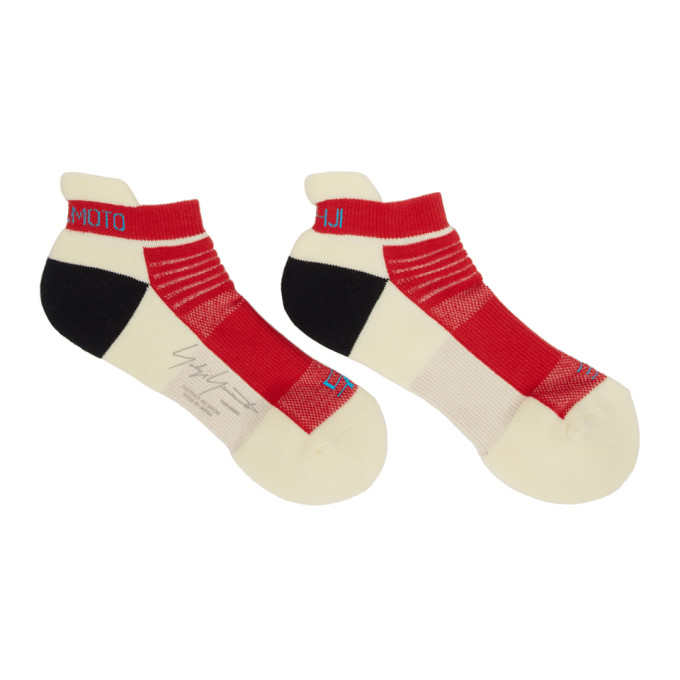 Yohji Yamamoto Chaussettes rouges et blanches Sneakers