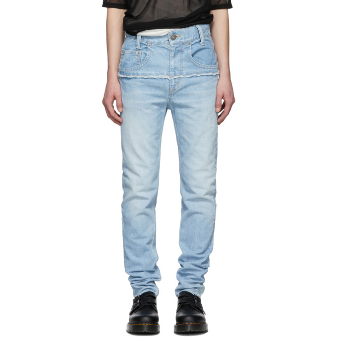 Image of Christian Dada Indigo Connected Slim Jeans