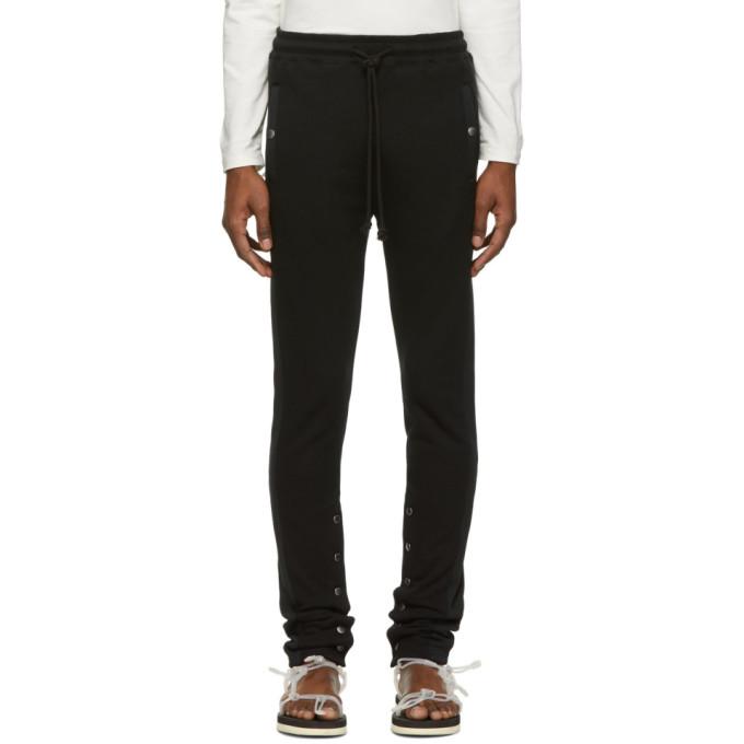 Christian Dada Pantalon de survetement noir Side Stripe