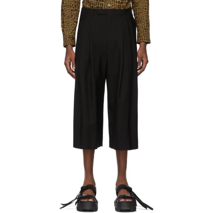Lad Musician Pantalon ample ecourte noir 3Tuck