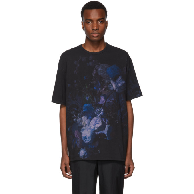 Lad Musician T-shirt noir Big Flower