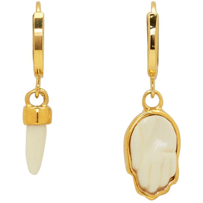 Isabel Marant Gold Horn & Hand Earrings