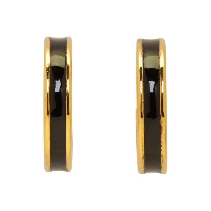 Isabel Marant Gold & Black Casablanca Loop Earrings