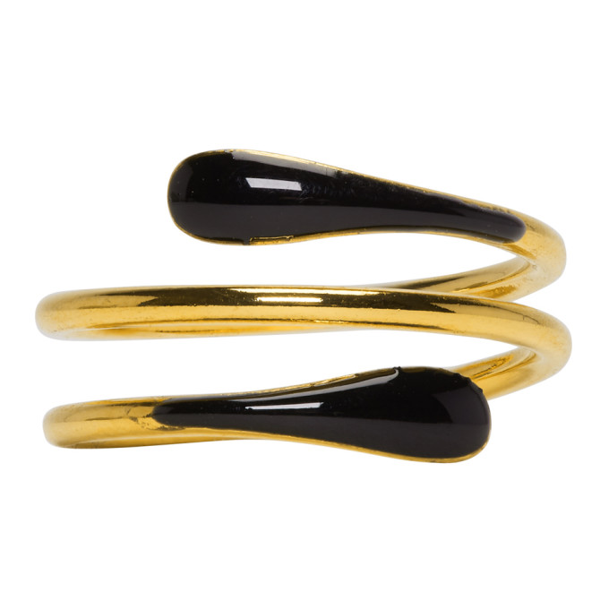 Isabel Marant Gold & Black Casablanca Ring