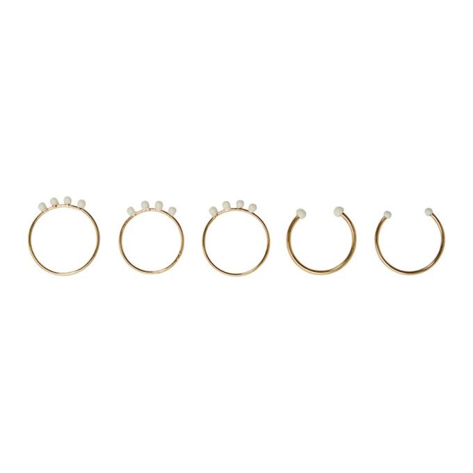 Isabel Marant Gold Casablanca Ring Set