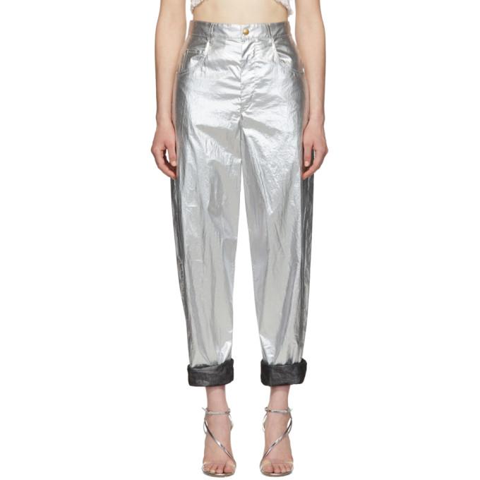 ISABEL MARANT | Isabel Marant Silver Torsy Trousers | Goxip