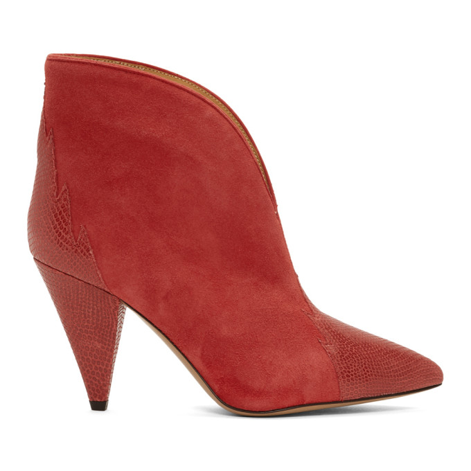 Isabel Marant Red Archee Boots