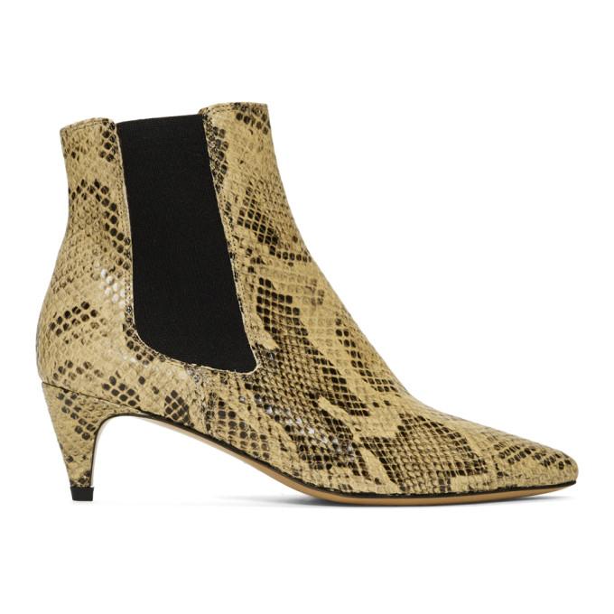 Isabel Marant Tan Snake Detty Boots