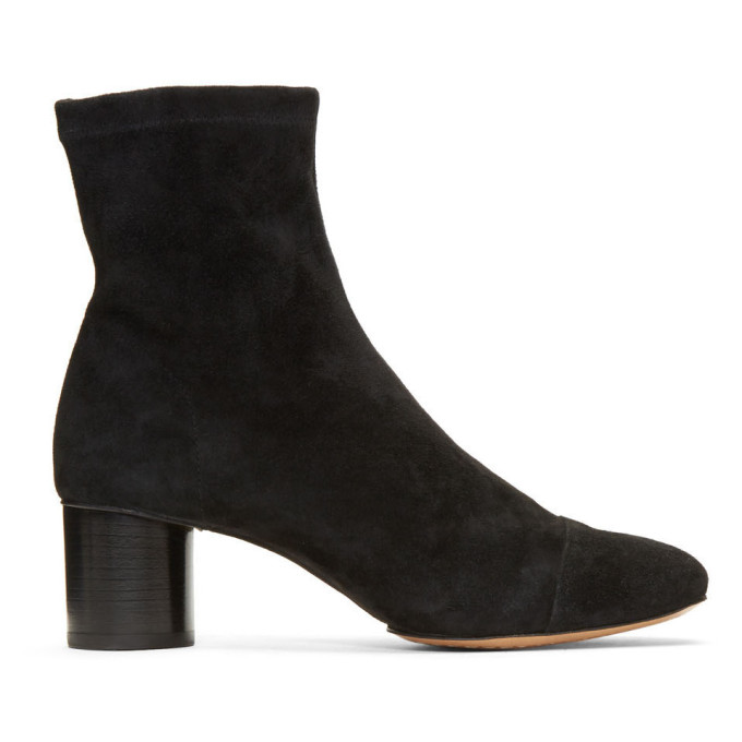 Isabel Marant Black Suede Datsy Boots