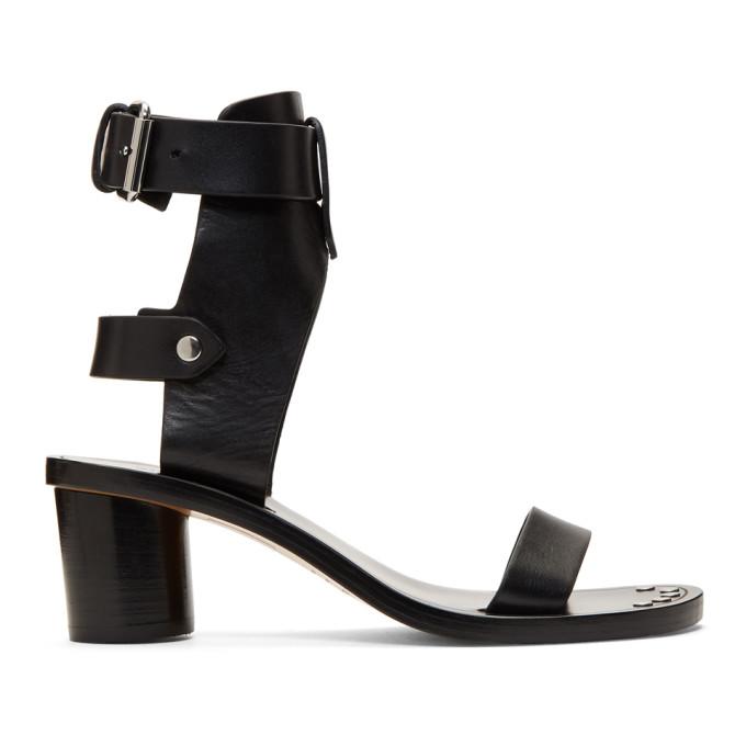 Jaeryn Heeled Gladiator Sandals in 01Bk Black