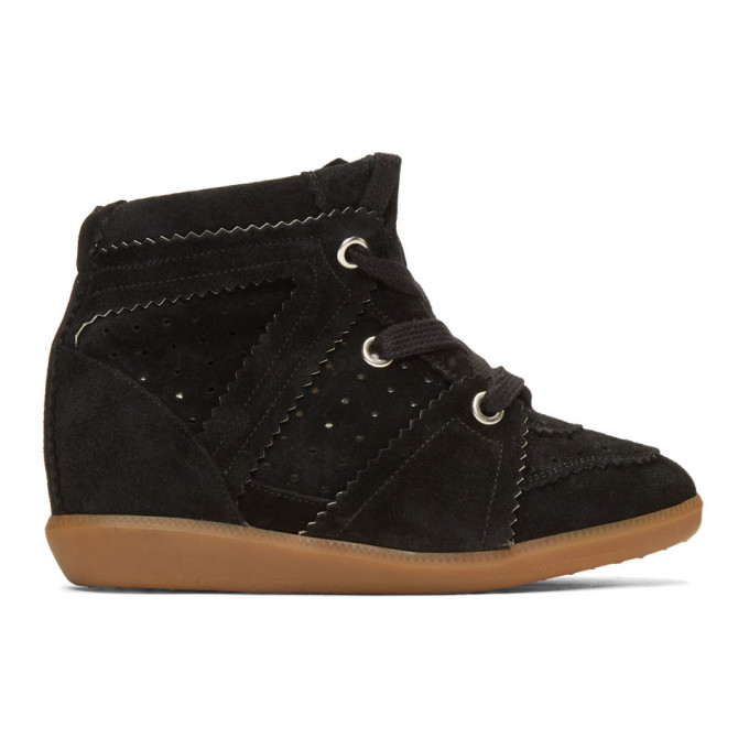 Isabel Marant Black Bobby Wedge Sneakers in 01Bk-Black