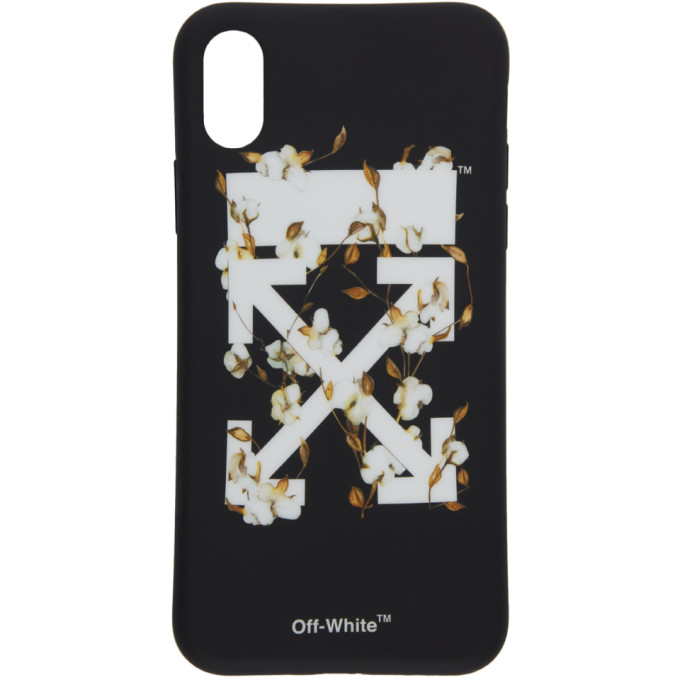 Printed Pvc Iphone X Cover in Black/White