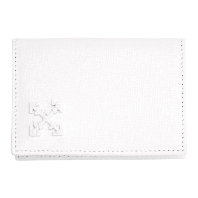 OFF-WHITE | Off-White White Leather Card Holder | Goxip