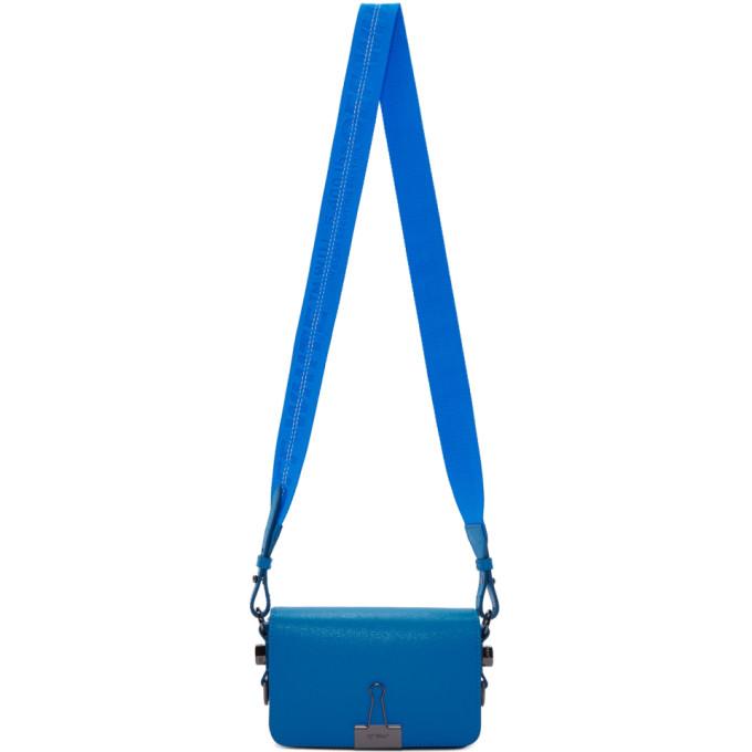 07bd6aa64 Off White Blue Mini Plain Flap Bag