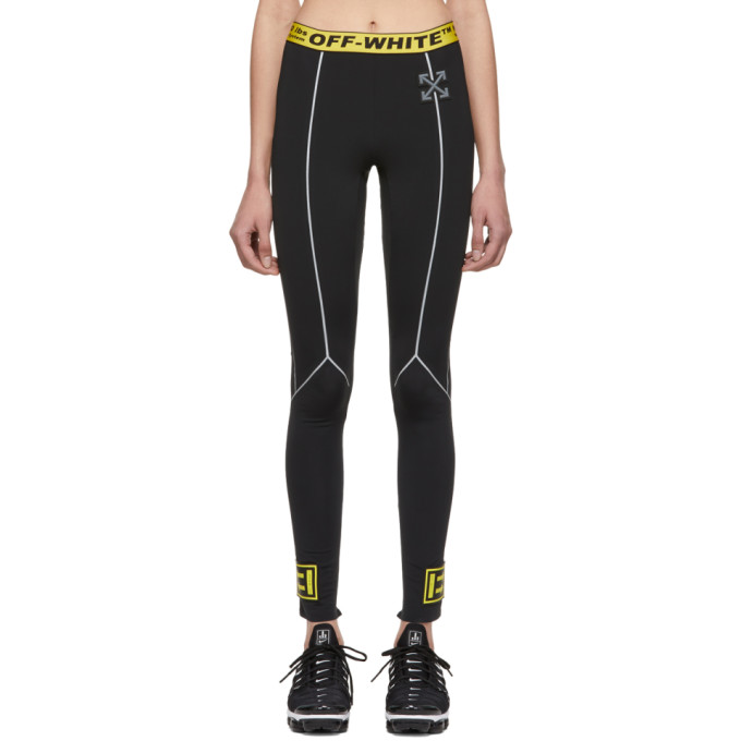 Off White Ssense Exclusive Black Workout Neoprene Sport Leggings 191607f08500405