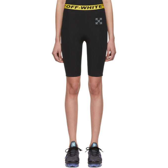 Off White Ssense Exclusive Black Workout Sport Cycling Shorts