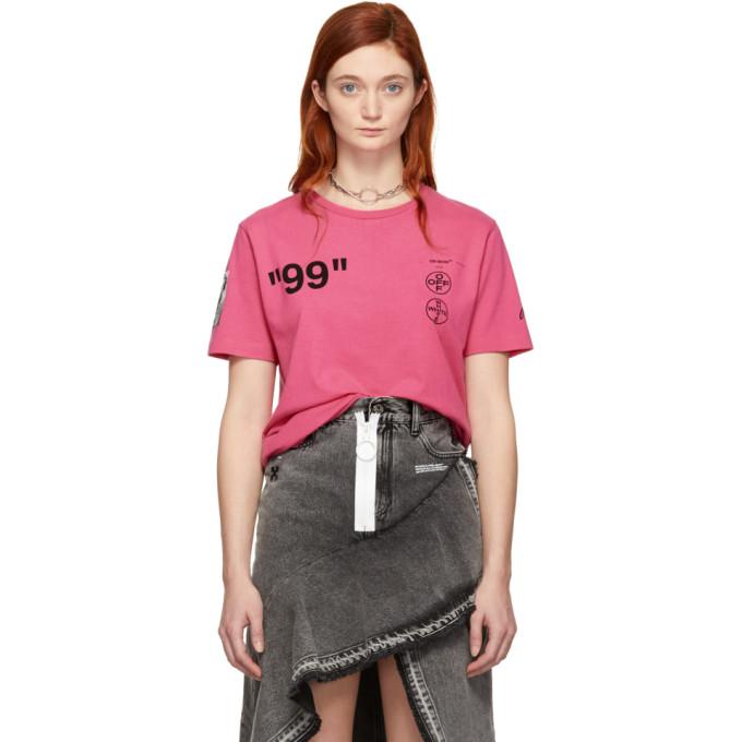 Off White Pink 'impressionism' Boat T Shirt