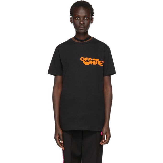 Off White Black Bubble Font T Shirt